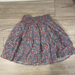 Imoga Paisley Layered Smocked Waist Skirt Size 6